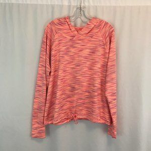 Maurices In Motion Space Dye Open Back Hoodie